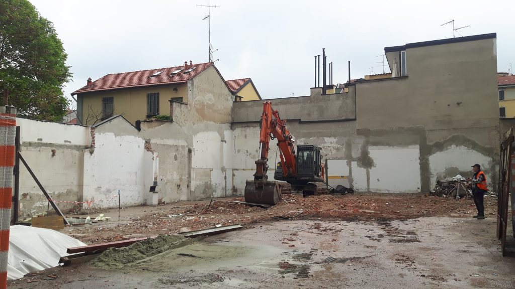 completion of the demolition phase