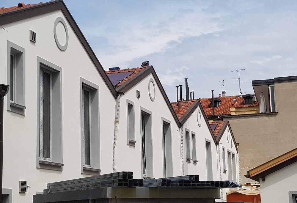 eco-living, la struttura esterna completata